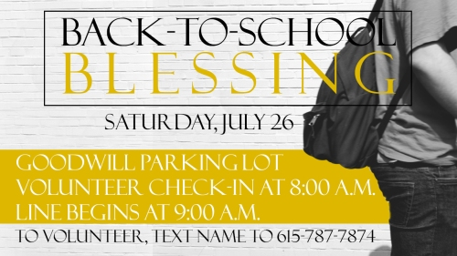 Back to School Blessing Logo - 2014
