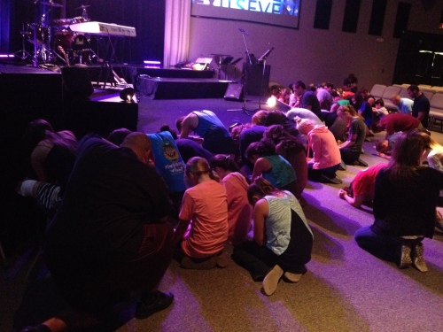Youth Praying - 2014 - August