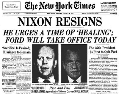 Nixon Resigns - NYT